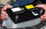 bateria de pe mașină
